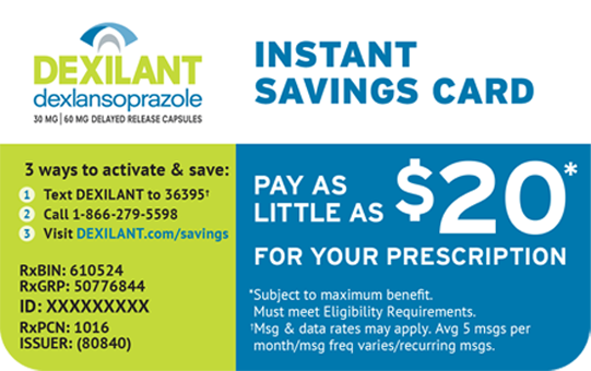 Instant Savings Card