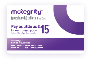 Motegrity savings card