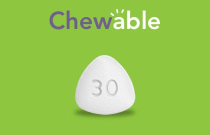 Vyvanse® 30 mg Chewable Tablet