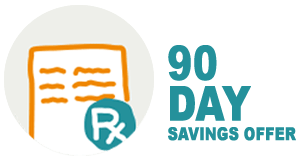 90-day savings offer icon