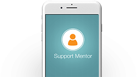 Phone calls from a support mentor