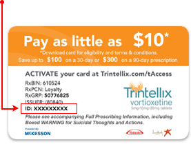 TRINTELLIX (vortioxetine) savings card